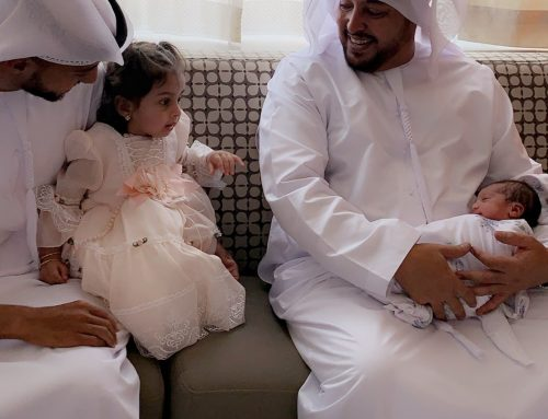 Mohammed and Salama, the first two newborns at Danat Al Emarat Hospital on first day of Eid Al Fitr